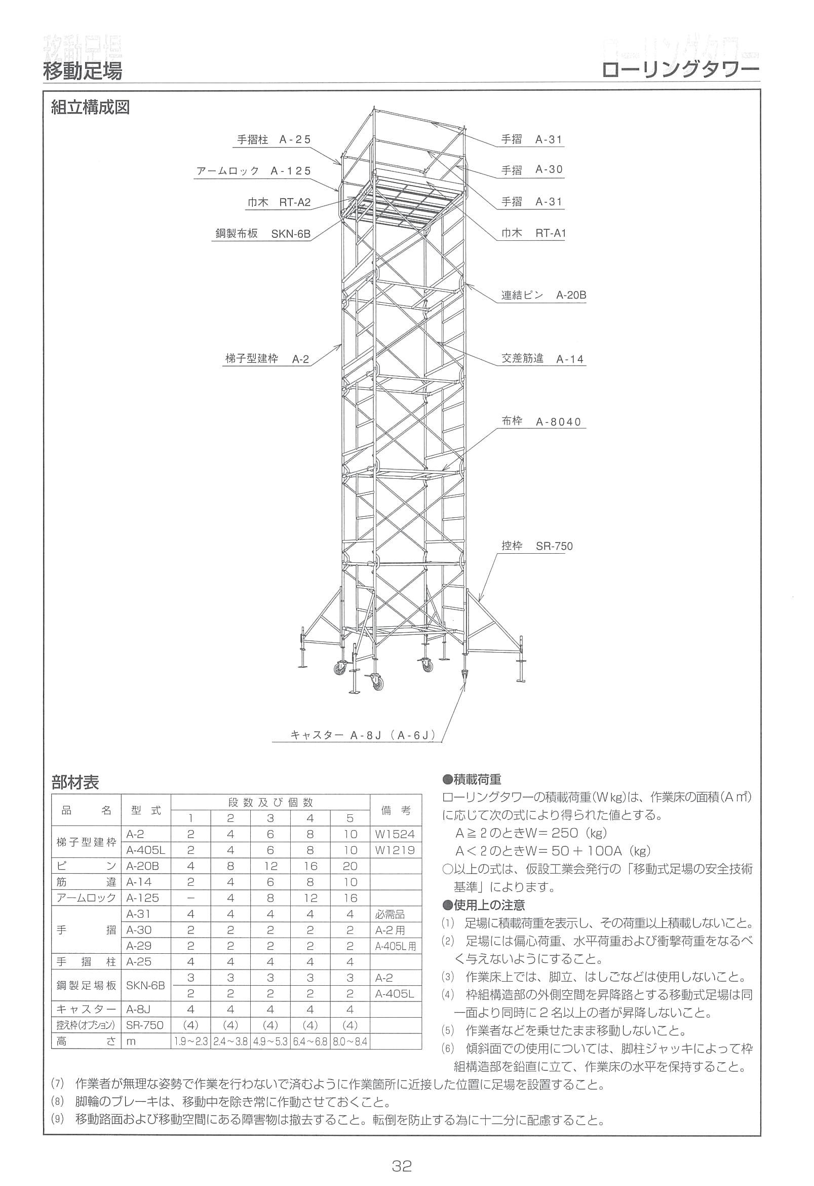 商品パンフ40-1ローリングタワー